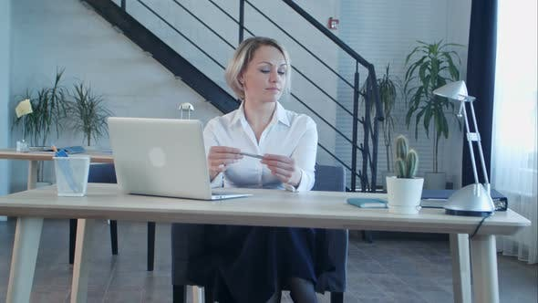 Thumbnail for Unhappy Bored Woman Sitting in Office