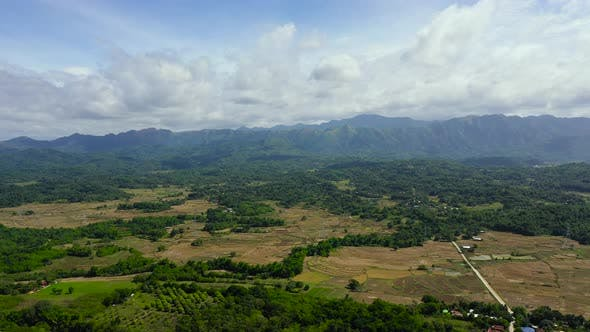 Thumbnail for Mountains and Agricultural Fields, Top View. Landscape on the Island of Luzon, Philippines.
