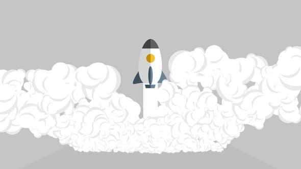 Thumbnail for Logo fusée à démarrage rapide