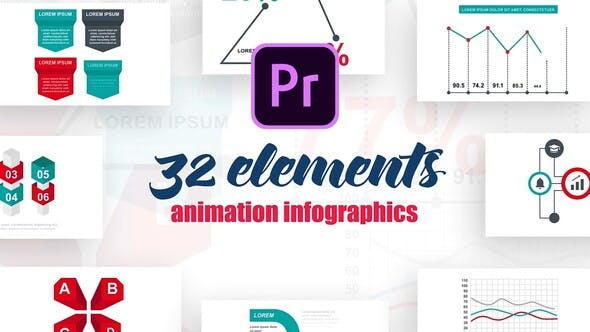 Thumbnail for Infographics Vol.15 for Premiere Pro