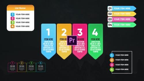 Infographic Colorful Lists-Premiere Pro