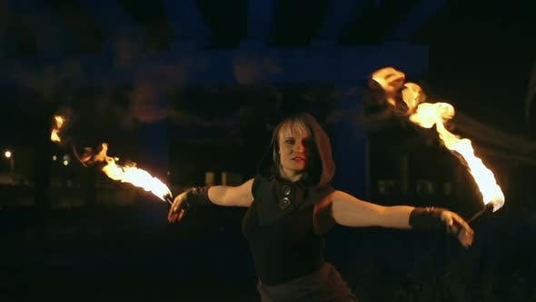 Thumbnail for Female Fire Show Performer