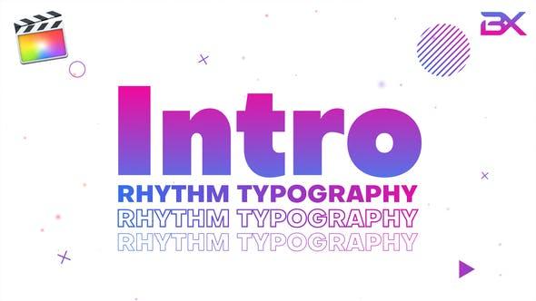 Rhythm Typography Intro