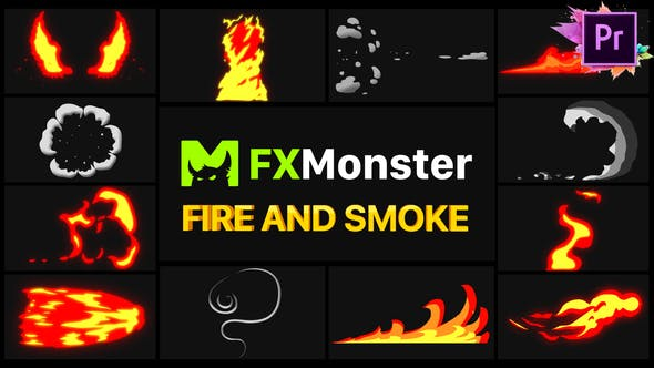 Thumbnail for Fire And Smoke Elements | Premiere Pro MOGRT