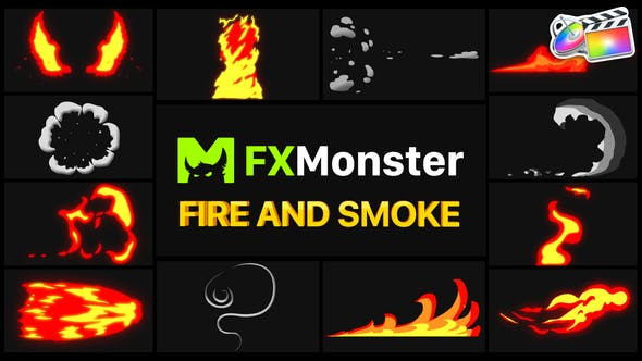 Thumbnail for Fire And Smoke Elements | FCPX
