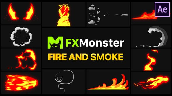 Thumbnail for Fire And Smoke Elements | After Effects