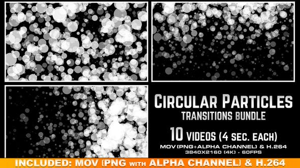 Thumbnail for Circular Particles Transitions Bundle - 4K
