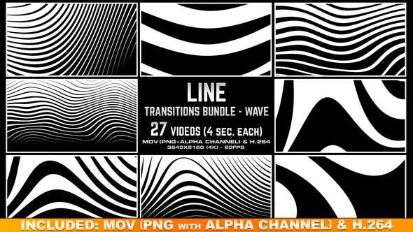 Line Transitions Bundle - Wave 4K