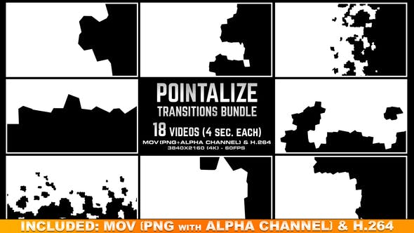 Thumbnail for Pointalize Transitions Bundle - 4K