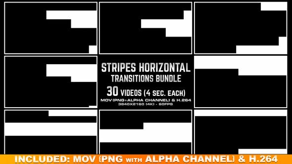 Thumbnail for Stripes Horizontal Transitions Bundle