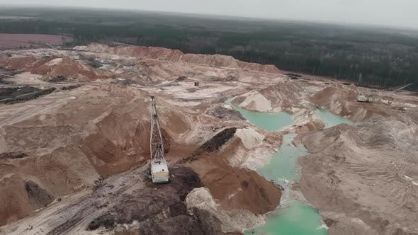 Thumbnail for Giant sand quarry with minerals extraction