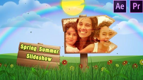 Thumbnail for Presentación de diapositivas de primavera y verano - Premiere Pro