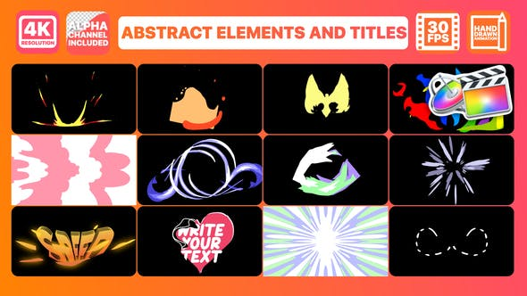 Thumbnail for Abstract Elements And Titles | FCPX