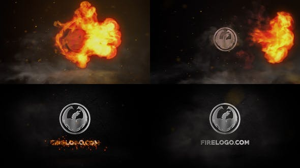 Thumbnail for Fire Und Chrome Logo   After Effects