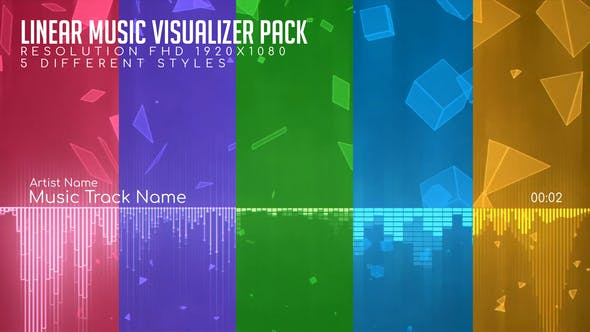 Thumbnail for Linear Music Visualizer Pack