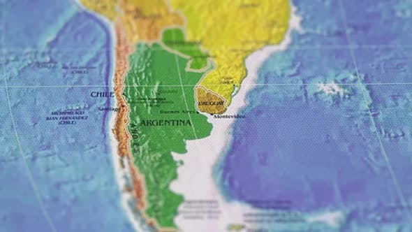 Thumbnail for Geographic Map Image Of The Earth's Surface Country South America