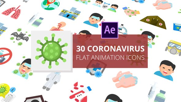 Thumbnail for Coronavirus Flat Animation Icons | After Effects