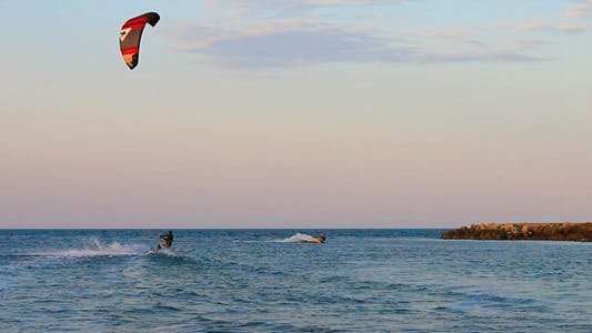 Thumbnail for Kite Surfers In The Sea