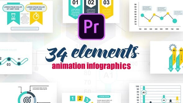 Thumbnail for Infographics Vol.16 for Premiere Pro