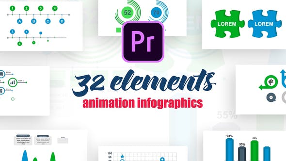 Thumbnail for Infographics Vol.17 for Premiere Pro