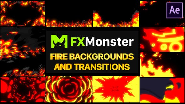Thumbnail for Fire Backgrounds And Transitions | After effects