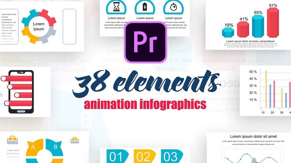 Thumbnail for Infographics Vol.19 for Premiere Pro