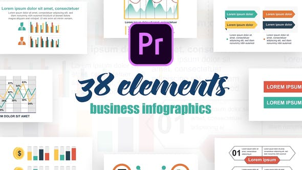 Thumbnail for Infographics Vol.21 for Premiere Pro