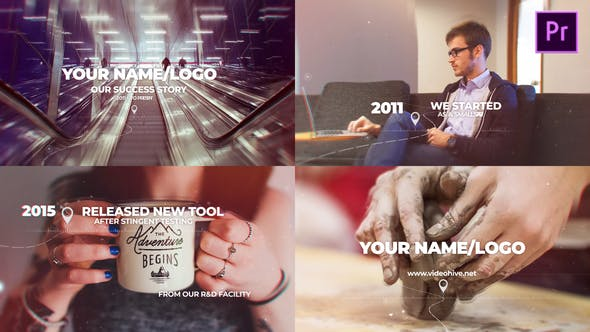 Modern Parallax Timeline Slideshow Mogrt