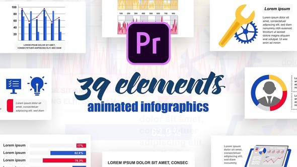 Thumbnail for Infographics Vol.23 for Premiere Pro