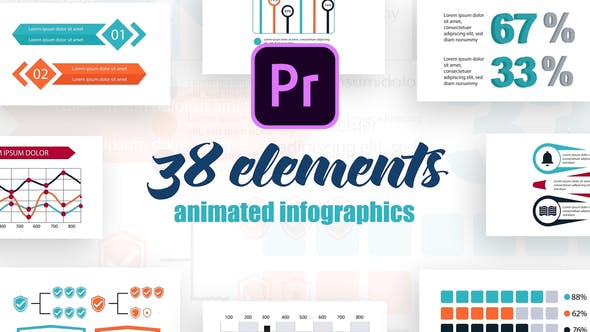 Thumbnail for Infographics Vol.24 for Premiere Pro