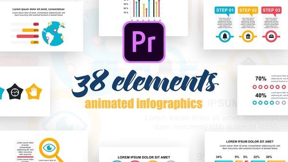 Thumbnail for Infographics Vol.27 for Premiere Pro