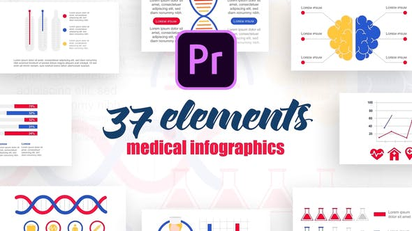 Thumbnail for Infographics Vol.2 for Premiere Pro