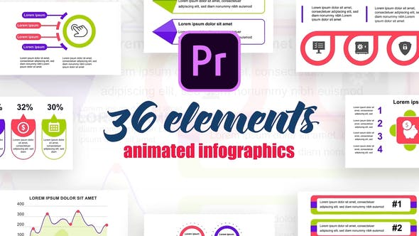 Thumbnail for Infographies statistiques Vol.5 pour Premiere Pro