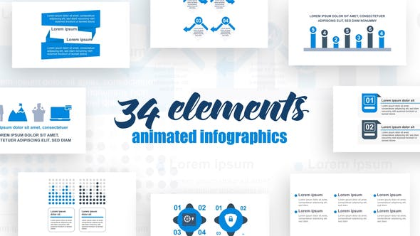 Thumbnail for Corporate  Infographics Vol.30
