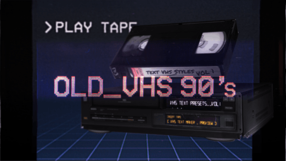Thumbnail for VHS Glitch Titles Presets