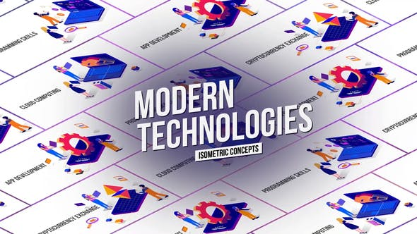 Tecnology - Isometric Concept