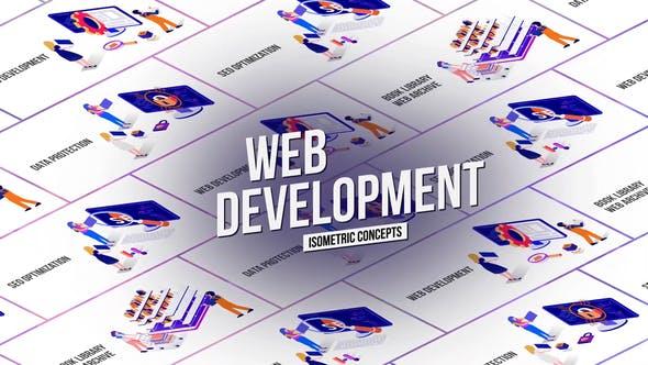 Thumbnail for Web Development - Isometric Concept