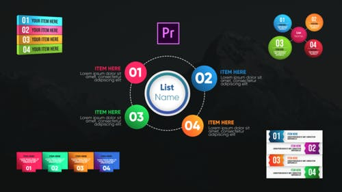 Infographic Modern Lists-Premiere Pro