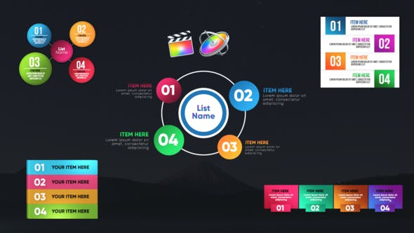 Thumbnail for Infographic Unique Lists-Final Cut Pro