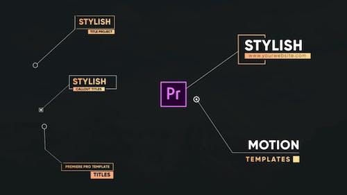 Stylish Callout Titles-Premiere Pro