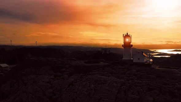 Cover Image for Coastal Lighthouse. Lindesnes Lighthouse Is a Coastal Lighthouse at the Southernmost Tip of Norway