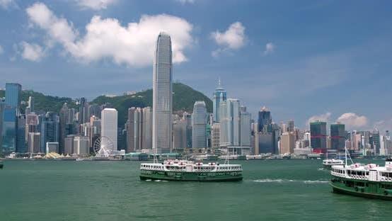 Cover Image for Hong Kong urban city skyline