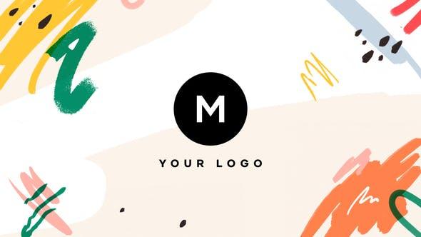Cover Image for Handgezeichneter Pinsel Tropisches Logo