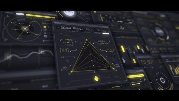 Interceptor 100 Ecrans HUD de l'interface utilisateur