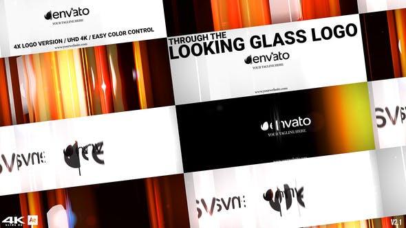 Thumbnail for À travers le Logo Glass Logo v2