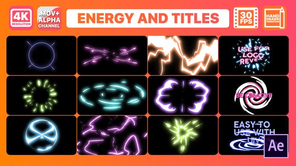 Thumbnail for Energy And Titles | After Effects