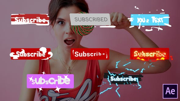 Thumbnail for Subscribe Buttons | After Effects