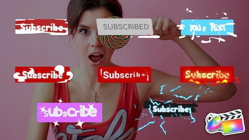 Subscribe Buttons | FCPX