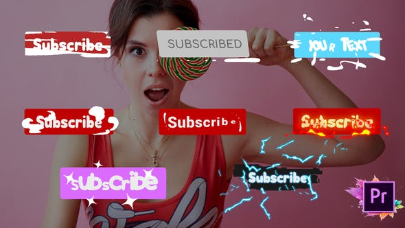 Thumbnail for Subscribe Buttons | Premiere Pro MOGRT