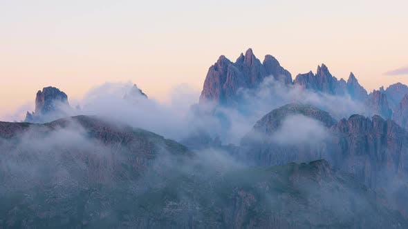 Thumbnail for Early Morning National Nature Park Tre Cime In the Dolomites Alps